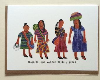 Guatemalan Ladies // Blank Card // Illustration