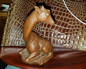 Red Mill Rare Giraffee Hand Made From Pecan Nut Shells