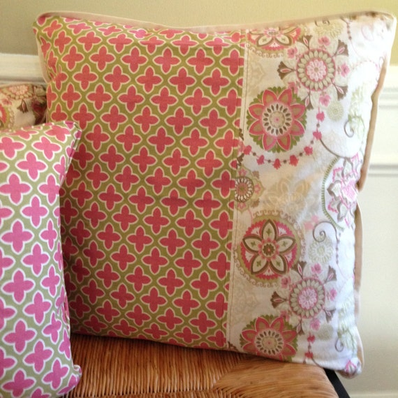 Items similar to Large Pink Floor Pillow Cover 24 x 24 inch Pillow Cover Rose Pillow Cover Girl ...