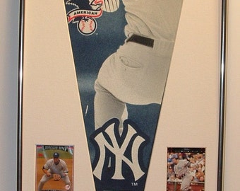 NY Yankees Alex Rodriguez 2006 MVP Pennant Framed..with cards...Custom Framed!!!