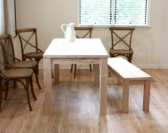 Dining Table, Reclaimed Wood Parsons Kitchen Table, 27