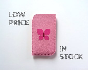 Phone Pouch Phone Case Phone Sleeve Phone Wallet / for iphone5 iphone5S iphone 5C Pink and Butterfly-ON SALE