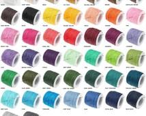 1MM Waxed Cotton Braided Cord Wax Polished Macrame Jewelry Beading Artisan String 20lbs - 80yards Spool