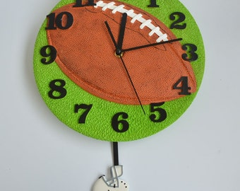 Pendulum Round Modern Wall Clocks Football Shaped