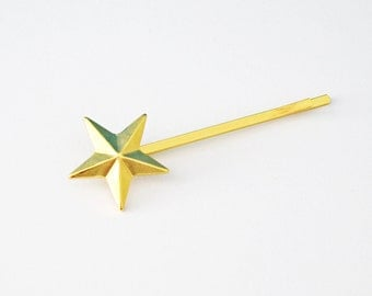 Set Of 1 Gold Plated Star Hair Clip - Cute Hair Pins - Gold Bobby Pin - Christmas Gift -  Star Hair Clip - Girls Hair Accessories