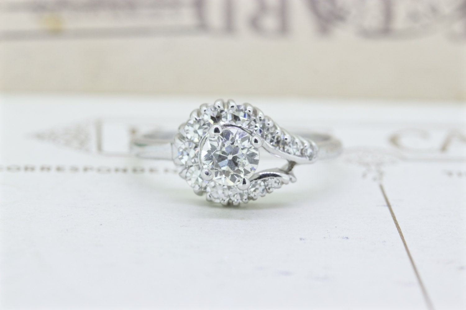 Vintage 1960s Engagement Ring Diamond by FergusonsFineJewelry
