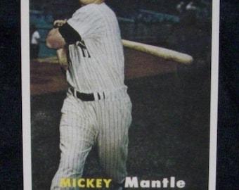 1957 Topps Baseball #95 Mickey Mantle - RP <> New York Yankees