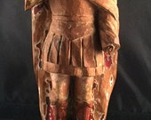 Military Saint Figure, 19th Century Santos from Central or South America, Religious Art