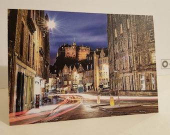 Edinburgh Grassmarket  A6 Card