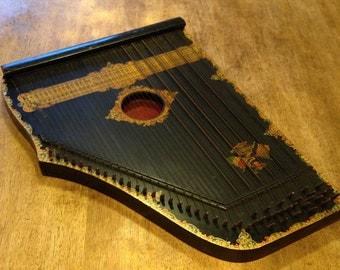 Antique Menzenhauer and Shmidt Guitar Zither c1894