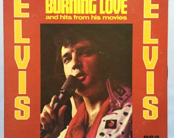 ELVIS - BURNING LOVE and hits from his movies Vinyl Record Album, Vintage Vinyl, Rock N Roll Records, 50s Rock and Roll