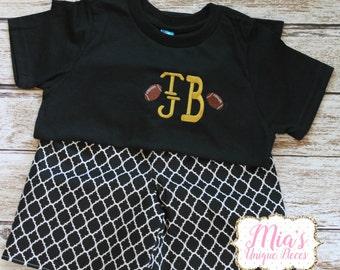 Black and Gold Short Set