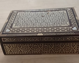 Vintage mother of pearl inlaid box