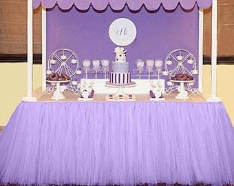Purple Tutu Tulle Table Skirt
