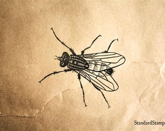 Fly Rubber Stamp - 2 x 2 inches