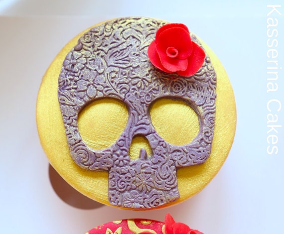 Edible Cake Decorations Skull : 6xsugar skull cake decorations. Completely edible and can