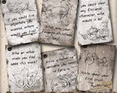 Printable Journal Prompt Card Deck ATC - Digital Collage Sheet - Journaling Cards - Art Journals, Digital Scrapbooking, Paper Crafts