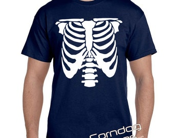 Gag Gifts for Men, Gag Gifts for Women, Novelty Gift, Rib Cage Skeleton T-Shirt XRay tshirt Ribcage Skeleton Shirt Funny Gag Gift