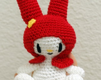 My Melody Crochet Amigurumi Doll (Sitting)
