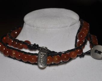 SALE! Wrap Bracelet Amber #515