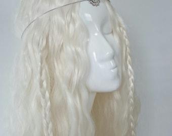 White gloss unicorn horn circlet