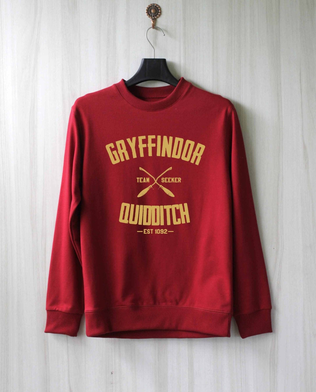 Gryffindor quidditch harry potter shirt sweatshirt by sabuy for How to not sweat through dress shirts