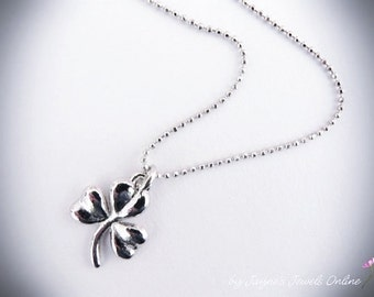 Shamrock Necklace, Silver Shamrock, Lucky Necklace, Irish Shamrock