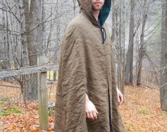 Brown Forest Wool Cloak