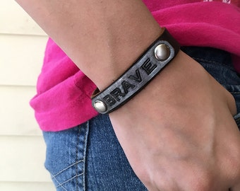 Aromatherapy personalized leather diffuser bracelet - soft and flexible - use with essential oils