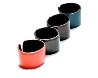 Adjustable Unisex Leather Cuff Bracelet