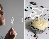 3D Printed Cupcake Sticks Bubble Wands Dove