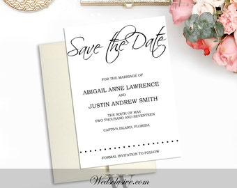 Save the Date Cards, Classy Wedding Suite - Modern, Simple, Bold - DEPOSIT