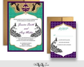 Peacock wedding invitations – Etsy