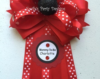 Minnie Mouse Corsage, Mommy-To-Be Corsage, Baby Shower Corsage.