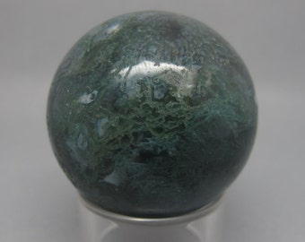 40mm Moss Agate Crystal Ball / Sphere
