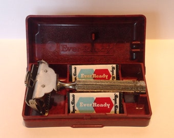 Ever Ready Flip Top SE Safety Razor & Case. 1912 Patent.