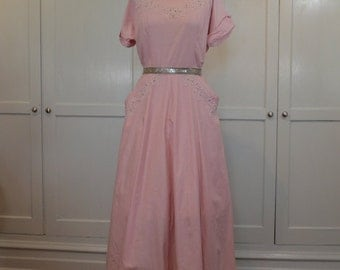Cotton Candy Pink with Cording Rhinestones and Pearls and Pockets