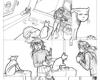 Original Comic Page. Maddy Scientist: Page 5.