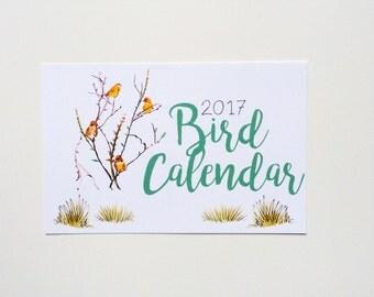 2017 Illustrated Bird Wall Calendar