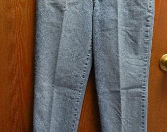 Gloria Vanderbilt 30/30 1/2 Womens 6 Faded Blue Denim Jeans