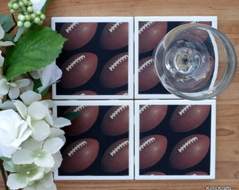 Drink Coasters - Tile Coasters - Ceramic Coasters - Ceramic Tile Coasters - Coaster Set - Table Coasters - Football Coasters - Coaster