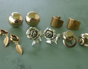 Vintage Screw Back Earrings (lot of 5)