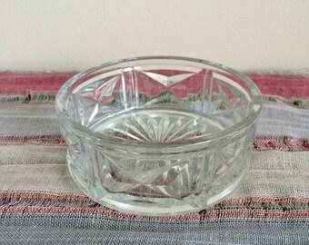 Vintage Glass Trinket Dish -- Small Vintage Candy Bowl