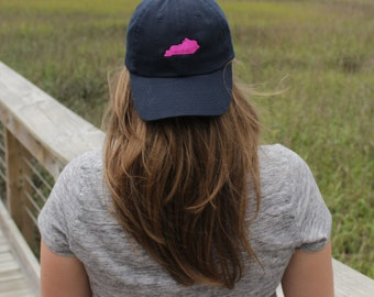 Ladies Monogrammed Baseball Cap with Small State Embroidery | Multiple Colors