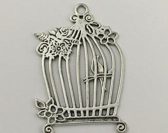 1 bird cage silver tone 58mm #CH 550
