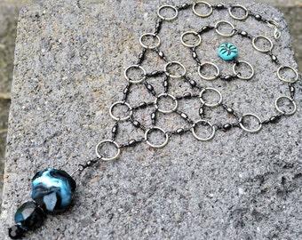 Cool necklace, Unique necklace, Modern necklace, Unusual necklace, Upcycled necklace, Casual necklace, Versatile necklace, OOAK necklace