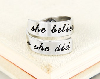 She Believed She Could so She Did Ring