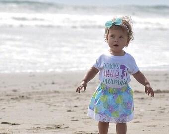 Daddy's Girl Shirt, Girls Mermaid Shirt, Toddler Girl Shirt, Father's Day Shirt, Mermaid Shirt, Daddys Girl, Mermaids, Mermaid Birthday