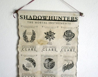 Shadowhunters The Mortal Instruments Book Covers Cassandra Clare on Handmade Scroll Poster