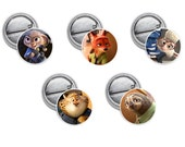 "Zootopia Mini 1"" inch Pin OR Magnet"
